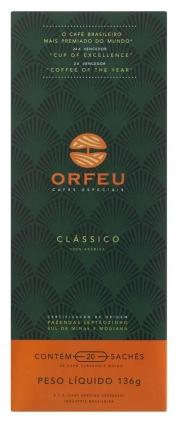 Café Orfeu Clássico Cápsulas 20 Unidades