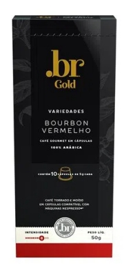 Café .Br Bourbon Vermelho Intensidade 8 em Cápsulas com 10 unidades