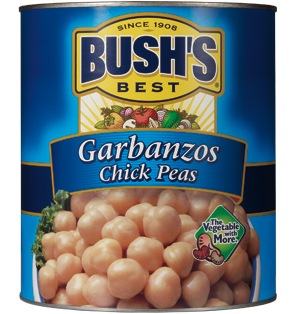 Bulk beans that are vegetarian beans from Bush's foodservice include Bush's Best Garbanzo Beans.