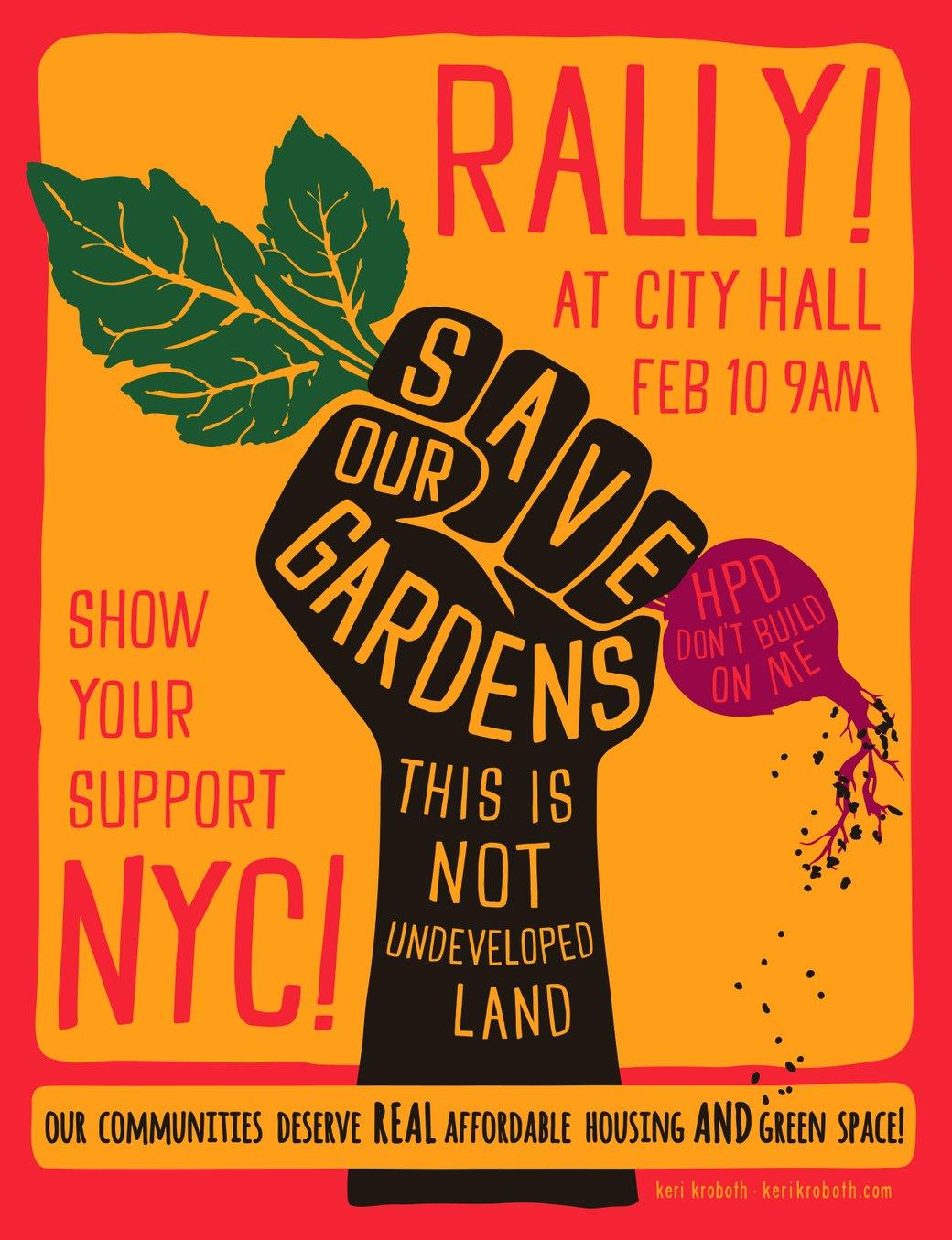 NYC Community Gardens are in Danger: Bushwick's El Garden to Rally