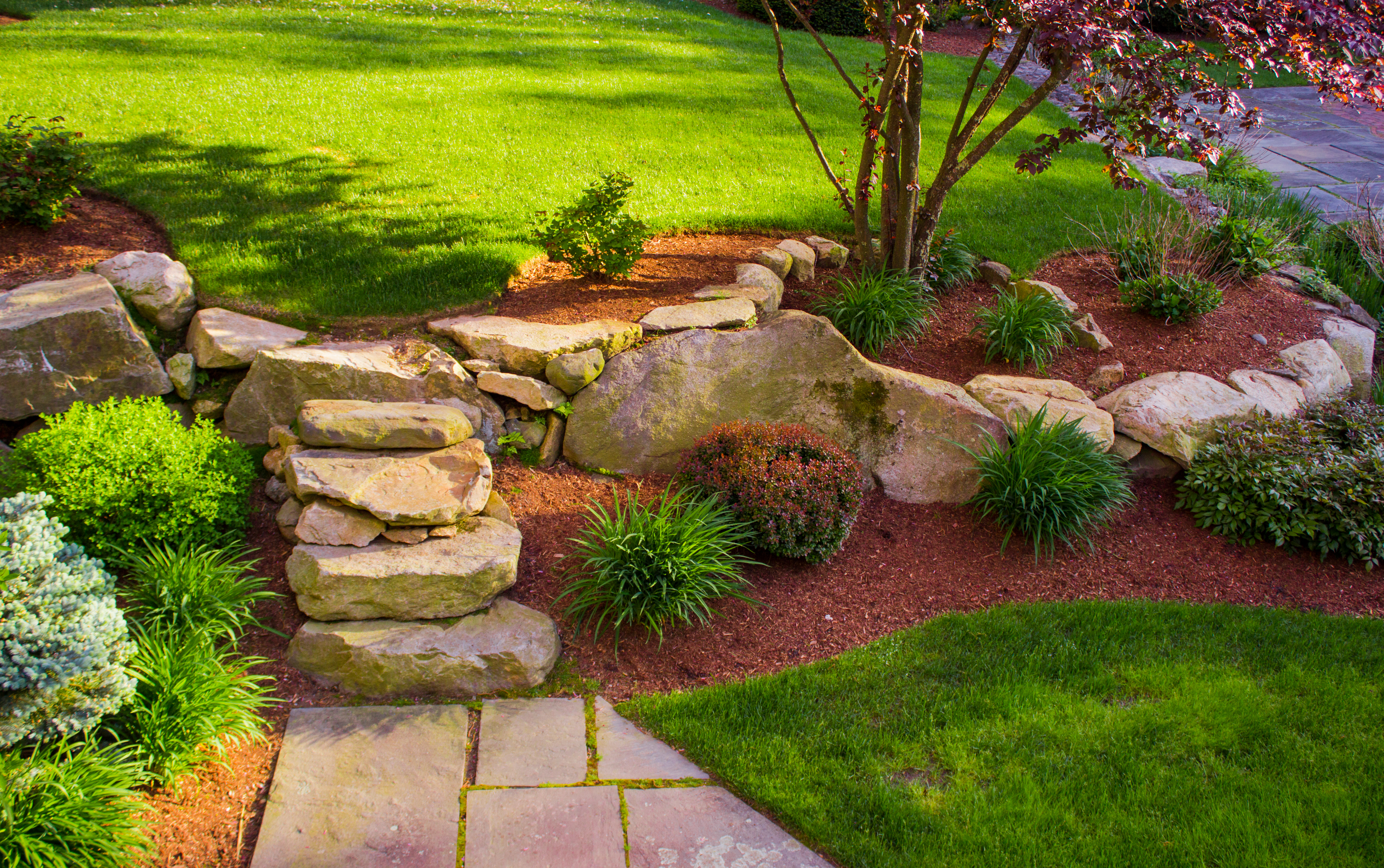 Landscaping-rock_stairs_and_wall