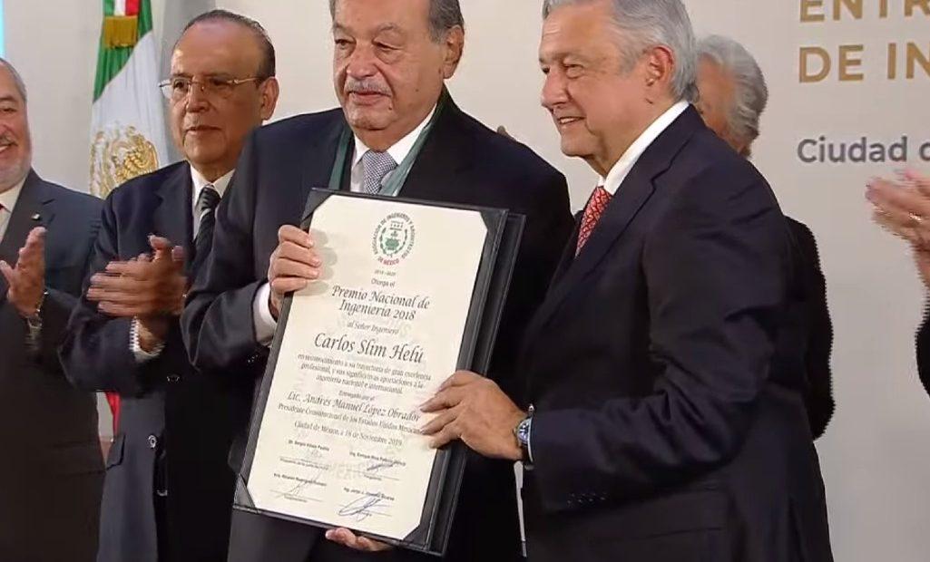 Carlos Slim y AMLO.