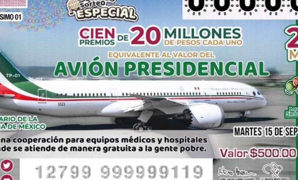 Cachitos rifa avión presidencial