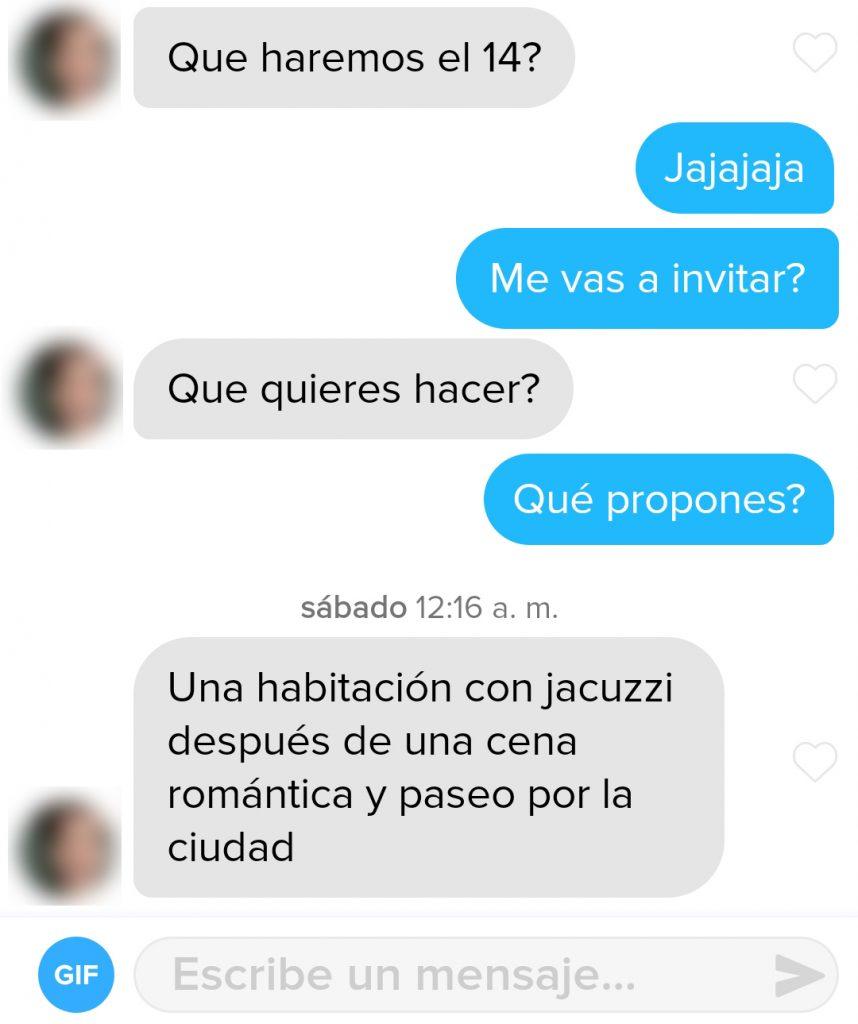 Conversación Tinder