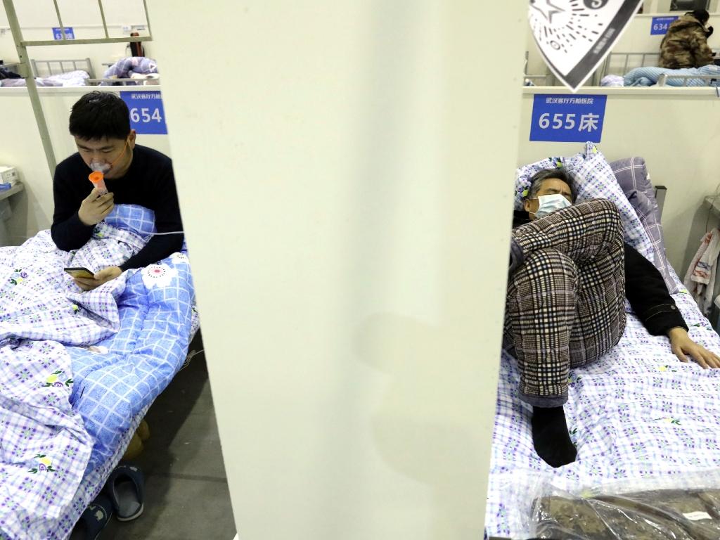 Enfermos con coronavirus en Wuhan, China