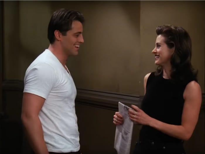 Joey Monica Friends pareja