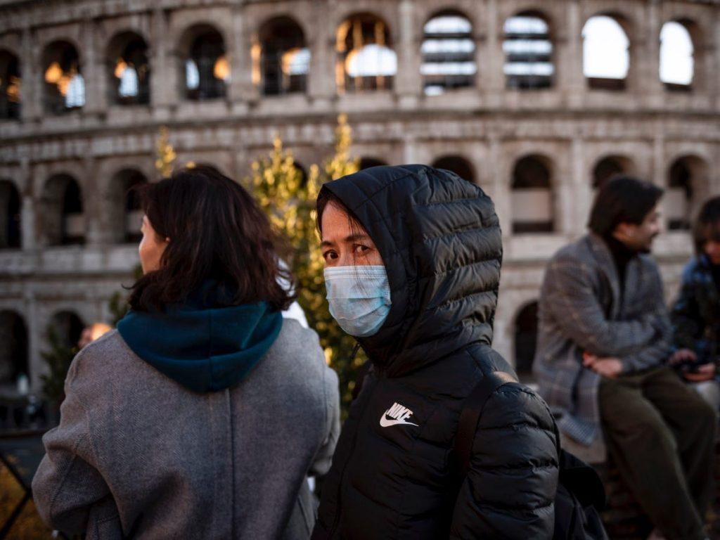 Coliseo Romano Roma Italia brote coronavirus