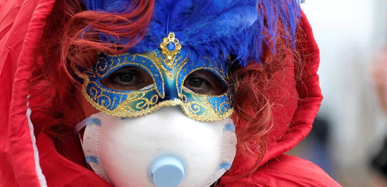 carnaval de venecia cubre bocas mascaras coronavirys