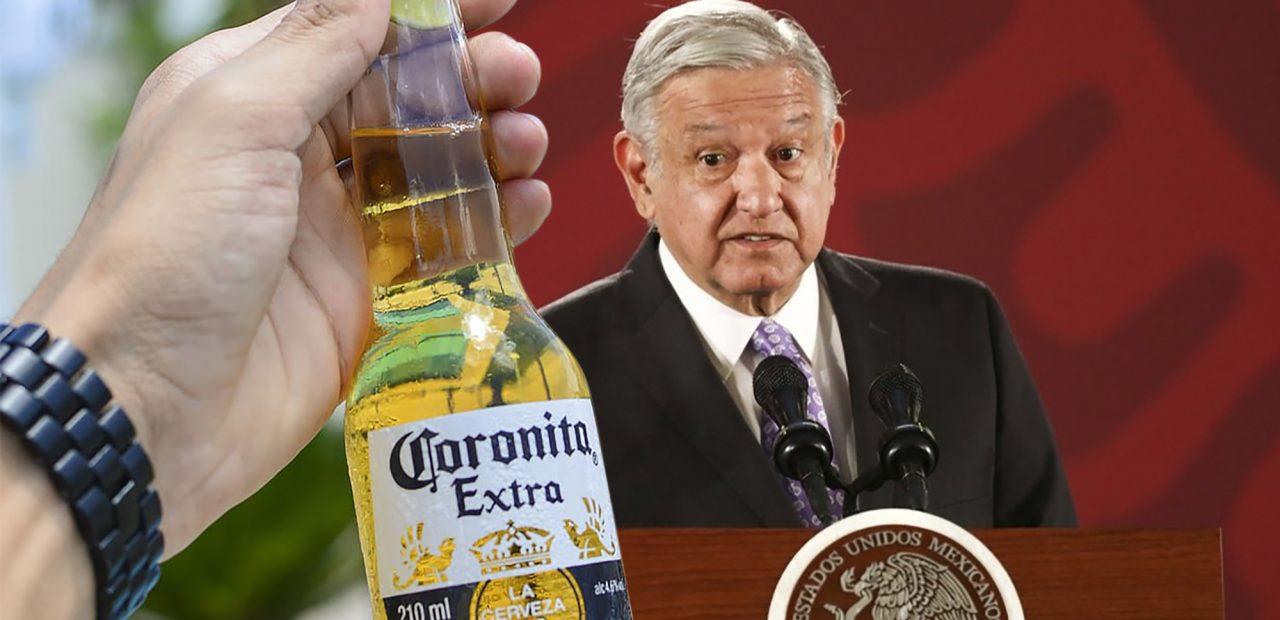 AMLO y cerveza Corona