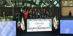 La Bolsa Mexicana de Valores da 'campanazo' por las mujeres y la equidad de género en las finanzas