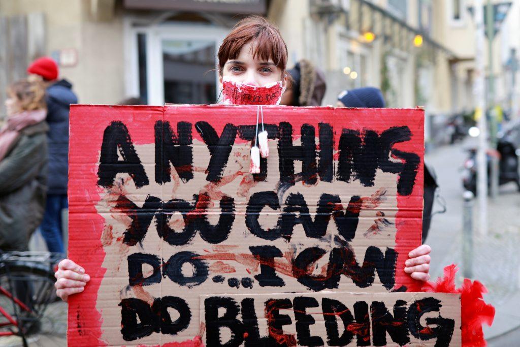 manifestacion alemania berlin menstruacion