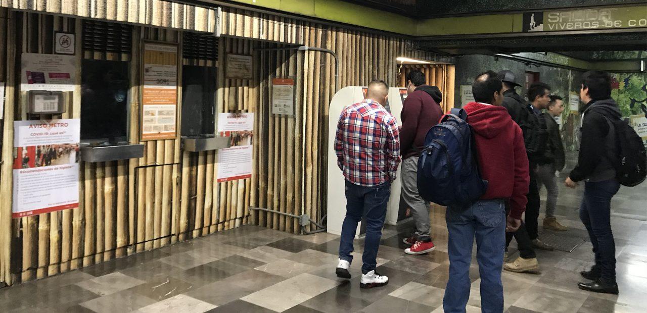 Metro de la CDMX sin mujeres