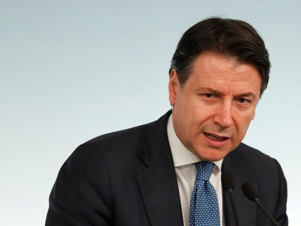 Guiseppe Conte coronavirus bloqueo italia