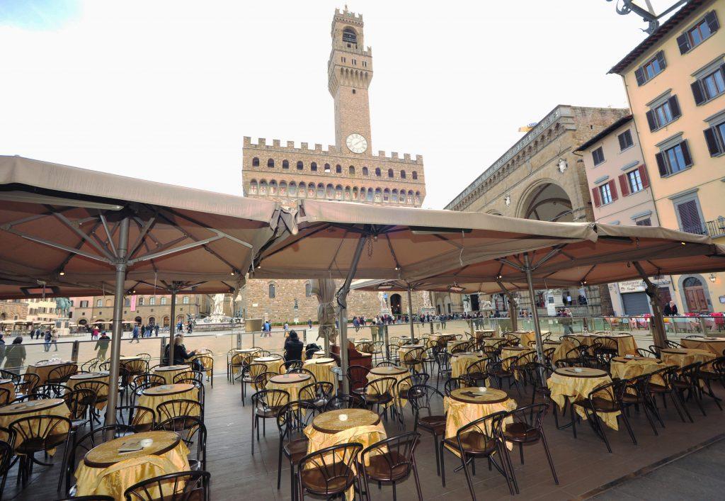 Palazzo Vecchio florencia italia coronavirus