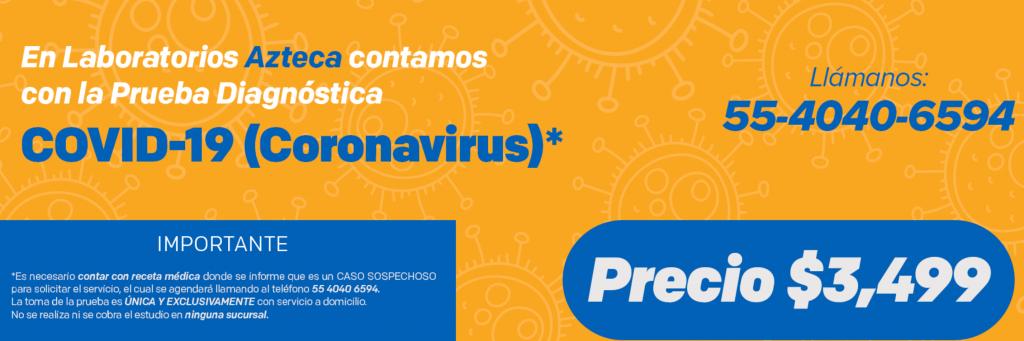 Azteca laboratorios privados coronavirus