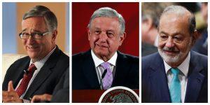 Carlos Slim, Germán Larrea y Ricardo Salinas Pliego respaldan a AMLO ante el coronavirus