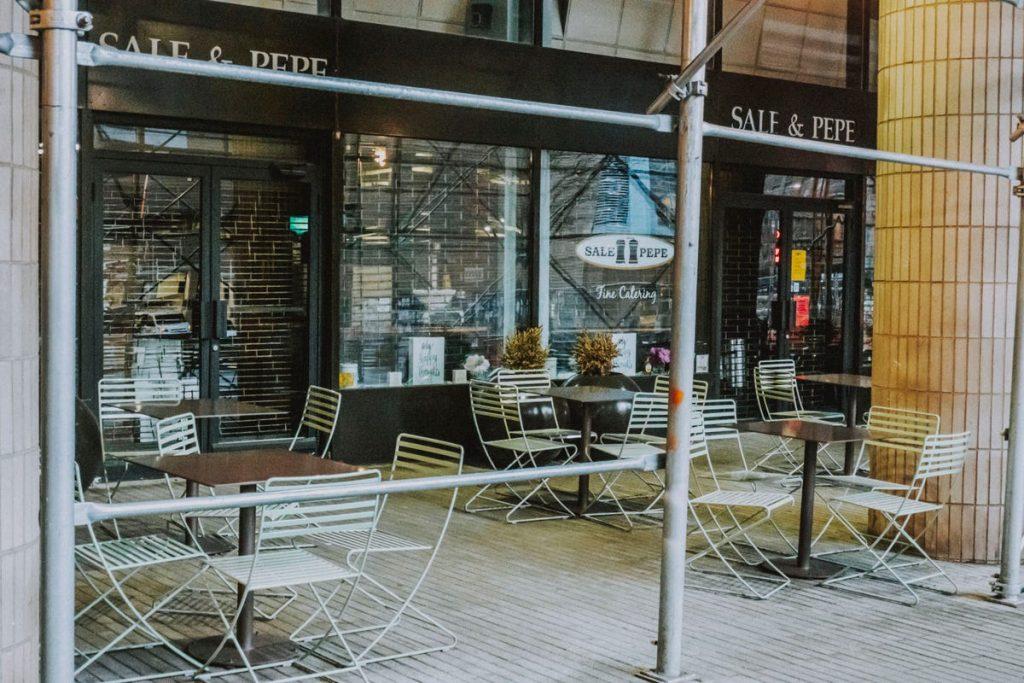 cafes y restaurantes cerrados