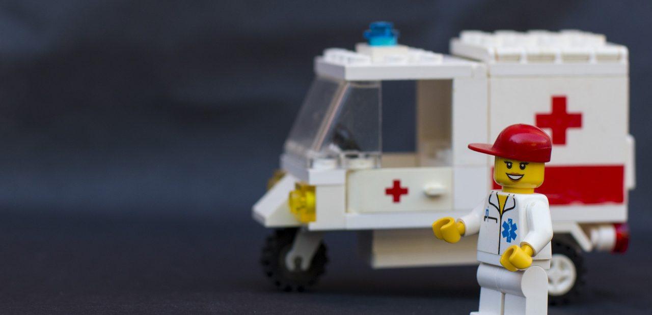 Lego visores personal médico