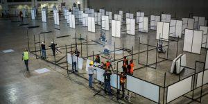 FOTOS: Así se ve el hospital temporal que gobierno y empresas acondicionan en Centro Citibanamex – la UNAM se hará cargo de él