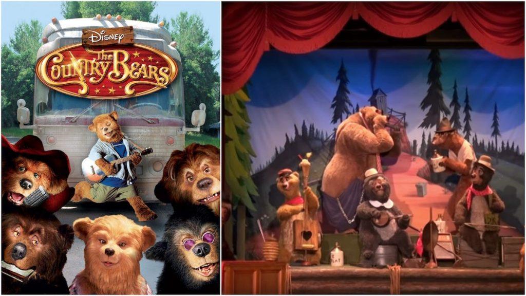 atracción disney parques country bears película adaptación