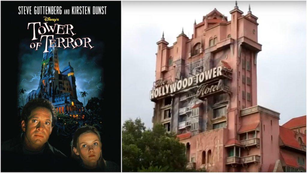 torre del terror tower of terror atracción adaptación película disney