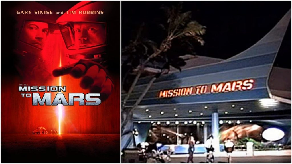 mission to mars atracción disney epcot adaptación película