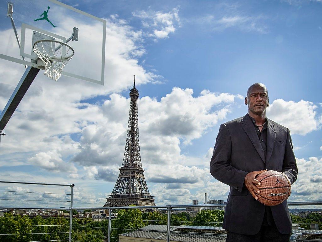 michael jordan en parís basquetbol nba