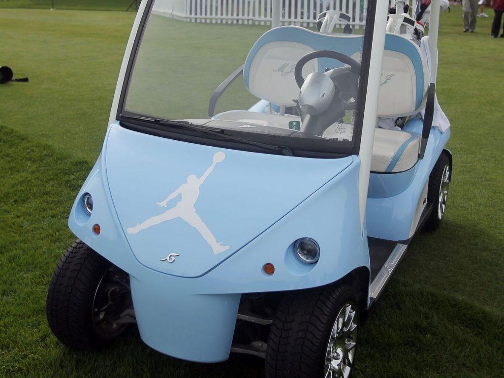 carrito de golf de michael jordan personalizado