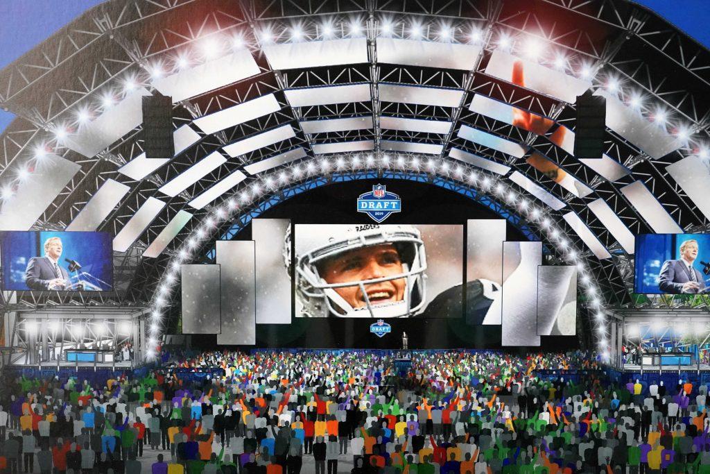 NFL draft 2020 las vegas render de la experiencia