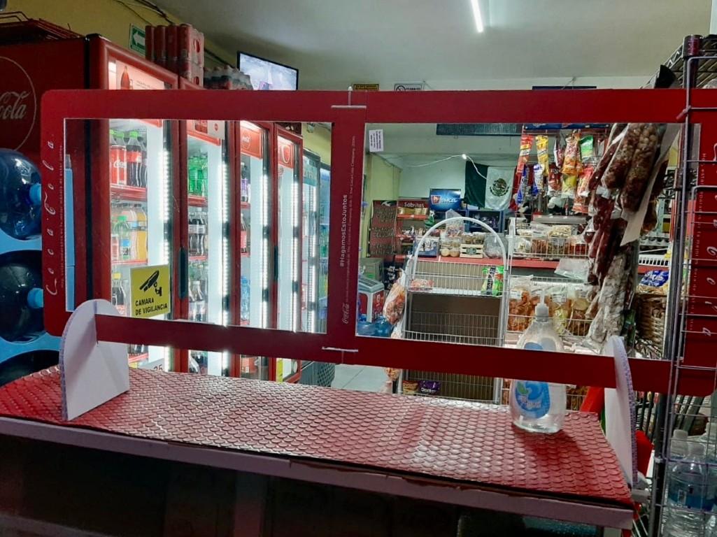 Coca-Cola pantalla protectora para tiendas