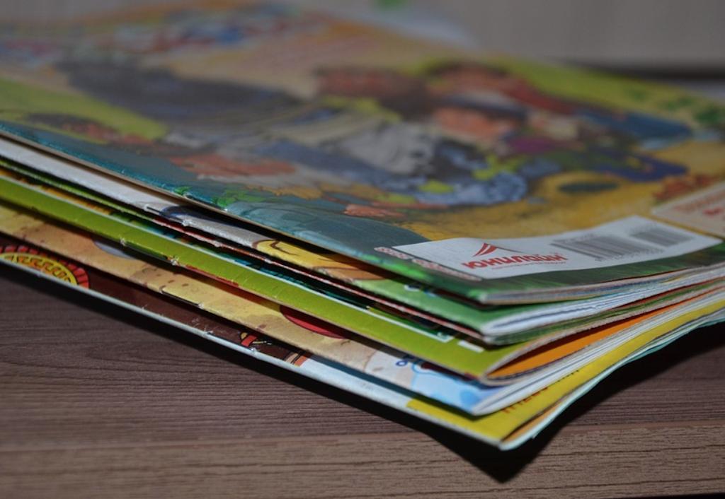revistas en la sala