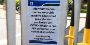La falta camas disponibles para enfermos Covid-19 llega a un hospital privado de la CDMX
