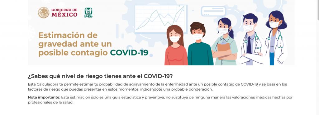 calculadora de gravedad por Covid-19
