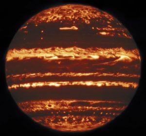 Astrónomos obtuvieron fotografías infrarrojas de Júpiter sin precedentes — y se dieron cuenta que su Gran Mancha Roja está llena de agujeros