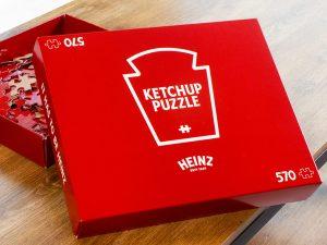 Heinz lanzó un 'rompecabezas de cátsup' con 570 piezas rojas para que te entretengas durante la cuarentena