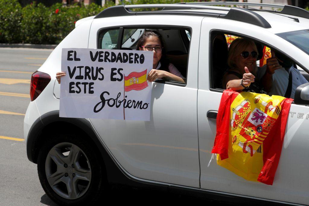 España protestas por gobierno coronavirus