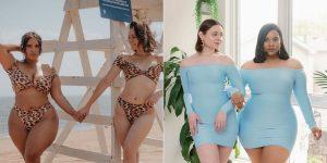 2 amigas comparten videos de TikTok que muestran cómo se ve el mismo atuendo en sus diferentes tipos de cuerpo