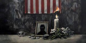 Banksy realiza nueva obra en honor a George Floyd, el afroamericano que murió a manos de policías blancos de Mineápolis