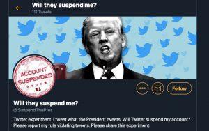 Un usuario de Twitter fue suspendido por 'glorificar la violencia' después de publicar exactamente lo que tuitea Donald Trump