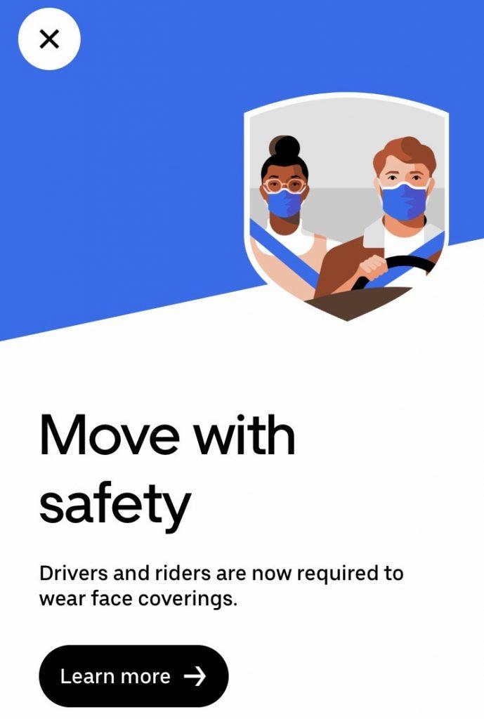Uber medidas coronavirus