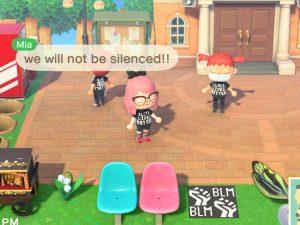 """Los usuarios de """"Animal Crossing"""" se suman al movimiento #BlackLivesMatter usando camisas, haciendo carteles y organizando protestas virtuales"""