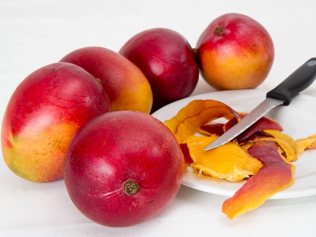 cascara de mango comer