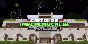Así se vivió el Grito de Independencia de Escobedo, Nuevo León, en Minecraft