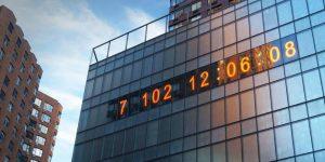 El Metronome de Manhattan ahora es un reloj climático que cuenta el tiempo que tenemos para salvar al mundo