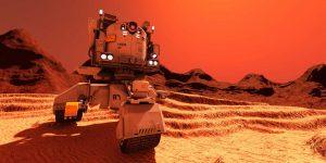 Los científicos detectaron un conjunto de lagos salados en Marte, escondidos debajo de los glaciares de su polo sur