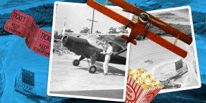 El auge de los autocinemas provocó la creación en 1948 de los cines para aviones