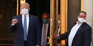 «No le tengan miedo al Covid-19», dice Donald Trump al dejar el hospital militar