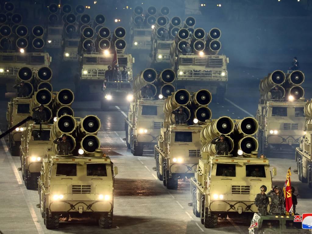 Corea del Norte desfile