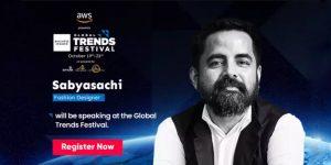 Escucha al ícono indio de la moda, Sabyasachi, hablar sobre el concepto de lujo y el futuro de la industria, en el Global Trends Festival 2020