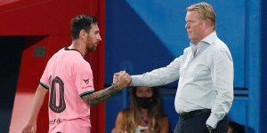 Lionel Messi es criticado por Ronald Koeman, luego de sumar una inédita racha de 3 partidos sin goles